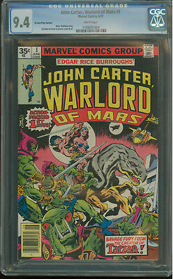 JOHN CARTER WARLORD OF MARS #1 CGC 9.4 NM 35 CENT PRICE VARIANT 2nd HIGHEST .35
