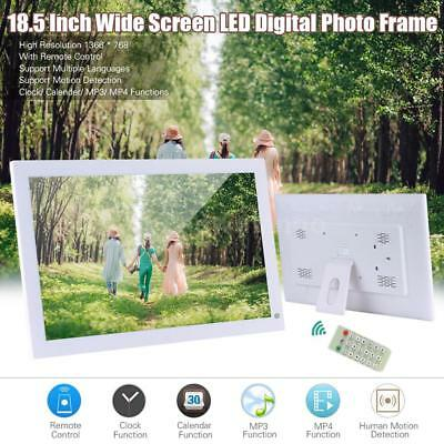 "18.5"" HD LCD Digital Photo Frame Picture Alarm Clock MP4 Movie Film Player BOOK"
