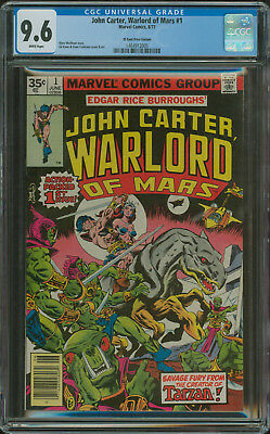 John Carter Warlord Of Mars #1 Cgc 9.6 Wp 35 Cent Price Variant Highest Graded