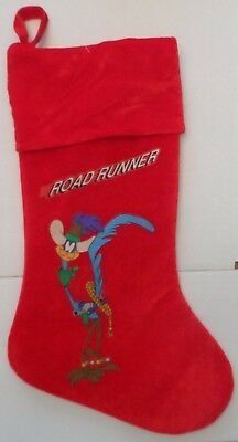 The Roadrunner Red Christmas Stocking Looney Tunes & Merrie Melodies Cartoons