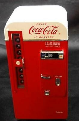 1994 Mini Coca Cola Vending Machine Bank - Plays 'The Real Thing' - No Res.