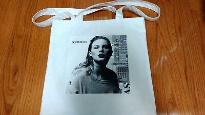 Taylor Swift Reputation Tote Bag White