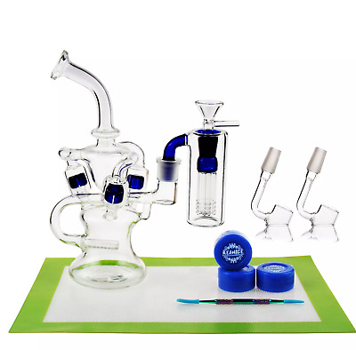 recycler dab rig water bong kit, high quality hand made - (tobacco use)