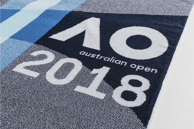 NEW Official 2018 Australian Open Mens and Womens Player Towel (70cm x 150cm)