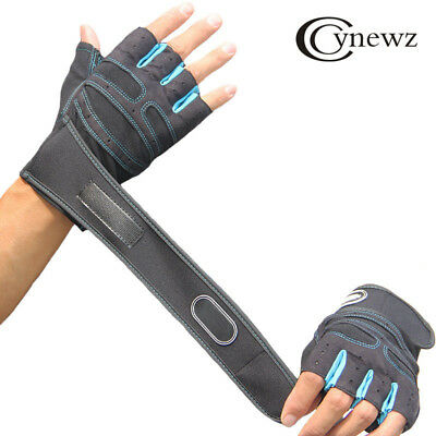 Men Women Weight Lifting Gloves Bodybuilding Fitness Wrist Wrap Gym Training