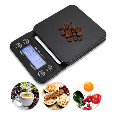 3kg 0.1g Drip High Precision LCD Electronic Scales Drip Coffee Scale With Timer