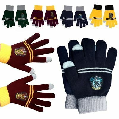 4 Styles Harry Potter Hufflepuff Gryffindor Touch Gloves Warm Glove Xmas Gifts