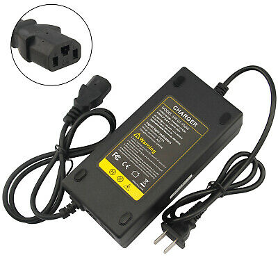 48V Volt 2.5A Battery Charger for Electric Car E-bike Scooter With Adaptor Cord