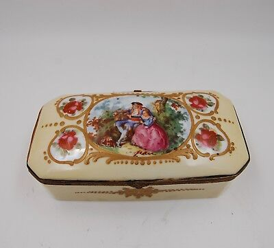 Antique French Sevres Portrait Jewelry Box  ...very Unique