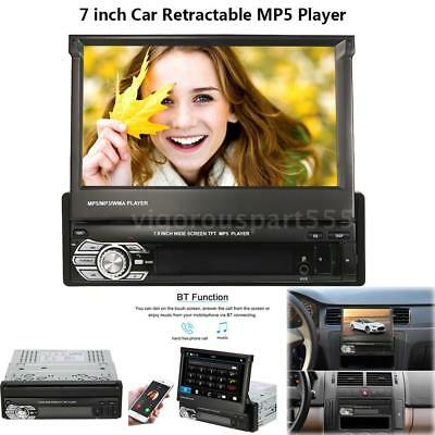 7inch Universal Retractable MP5 Player Car Stereo Radio Player with BT FM USB SD