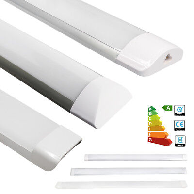 4FT Suspended LED Batten Tube Light Slim Wall Ceiling Surface Mounted 36W 65W