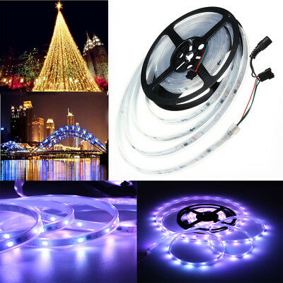 Waterproof IP67 5M 5050 SMD RGB 1903 IC LED Strip Light Dream Color Lamp DC 12V