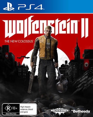 Wolfenstein 2 II The New Colossus PS4 Game Betshada Brand New *AUS STOCK*