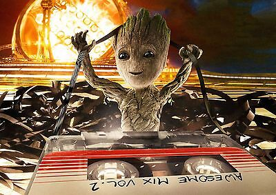 Poster A3 Guardianes de la Galaxia Guardians of the Galaxy Groot Marvel 01