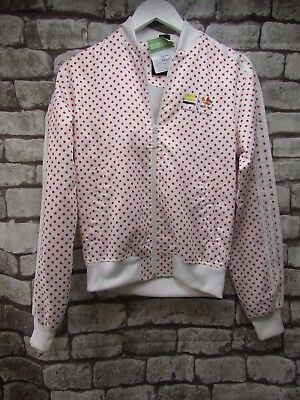 Adidas Pharrell Williams White Red Spot Jacket Size Xs    ##sol A02 Jt
