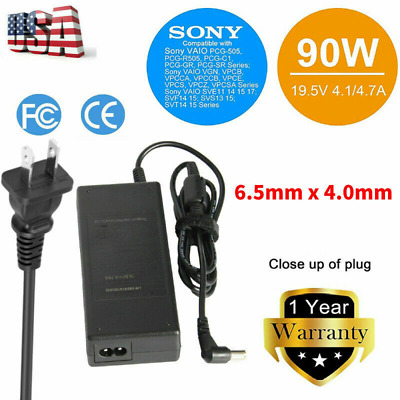 19.5V AC Adapter Charger Power Cord Supply for Sony Vaio VGP-AC19V48 Laptop