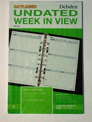 Debden Undated Dayplanner Refill Week To View Dk1016 30 Pages