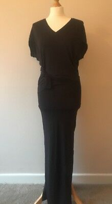 All Saints Brown Knot Front Jersey Dress Size XS 46531faa1