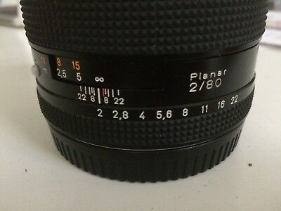 Contax Carl Zeiss Planar T * 80mm F/2 for Contax 645