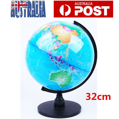 32cm Swivel World Globe Map Blue Ocean Geography Educational Toy Gift Stand