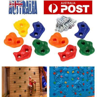 10X Textured Climbing Rock Wall Stones Holds Hand Feet Kids Assorted Kit AU
