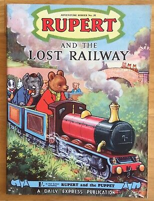 RUPERT Adventure Series No 21 Rupert & The Lost Railway JUNE 1954 FINE