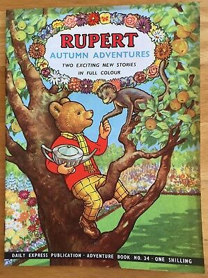 RUPERT Adventure Series No 34 Rupert Autumn Adventures September 1957 Very FINE