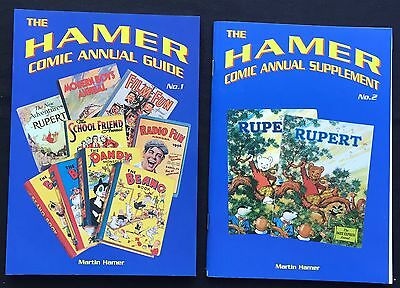 HAMER COMIC ANNUAL GUIDE & SUPPLEMENT Rupert Dandy Beano Eagle Girl & the Rest