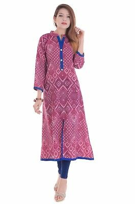 Indian Bollywood Print Kurta Kurti Women Ethnic Top Dress Pakistani Tunic Casual