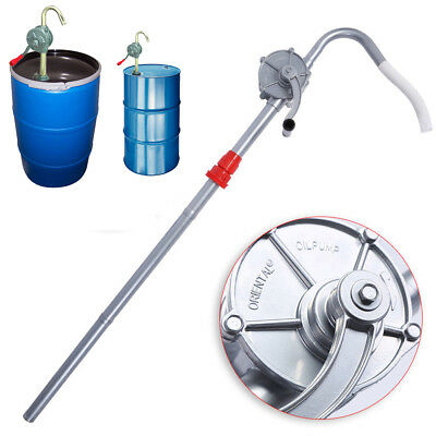 Drum Rotary Manual Hand Barrel Heavy Duty Pump Diesel Fuel Oil Gas Tool US