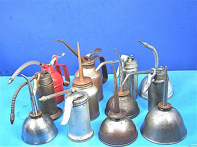 Vintage Lot of 12 Oil Can Oiers Thump Pump Eagle Plews Craftsman