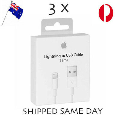 3x iPhone Charging Cord Lightning Cable for Genuine Apple 5 6 7 S 8 X iPad