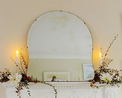 Art Deco Mirror, Frameless Feature Wall Cloud Overmantle Antique Mirror M360