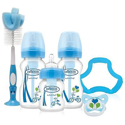 Dr Browns Options Wide Neck Baby Starter Kit Blue - Bottles Soother Teat Teether