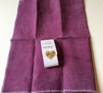 Color & Cotton 32ct Belfast linen 'Blackcurrant', 18x26 inches