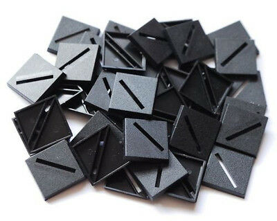 50 (Fifty) 25mm Square Slotta Bases for Wargaming and Roleplaying New