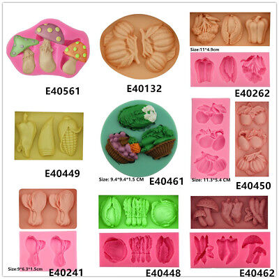 Vegetables Silicone Cake Fondant Cookie Biscuit Chocolate Mold Decorate Tools