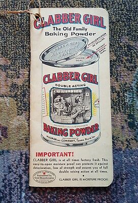 Vintage Clabber Girl Baking Powder Notebook Want  Book