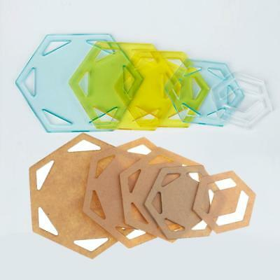 5pcs Hexagon Patchwork Tools Quilt Templates Acrylic DIY Tool for Patchwork