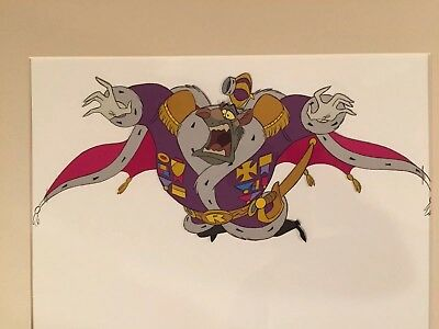 Original Hand Painted Cel of Ratigan from Walt Disneys The Great Mouse Detective
