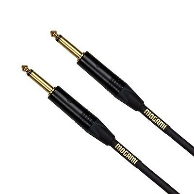 "Mogami GOLD INSTRUMENT-18 Guitar Instrument Cable 1/4"" TS Male Plugs Gold Con..."