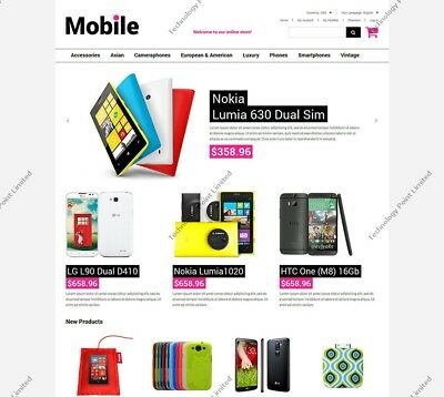 Green Mobile Shop Magento Theme - Complete Mobile Electronic E-commerce Website