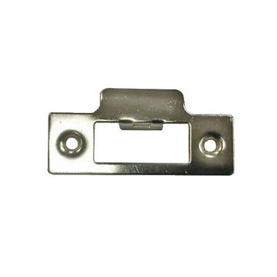 Strike Plate Square Nickel Plated for Tubular Mortice Sash Door Locks or Latches