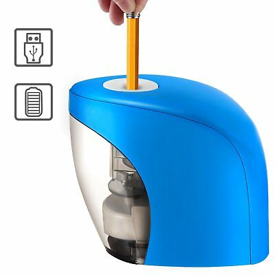 Electric Pencil Sharpener Automatic Auto Stop Office Kids Portable USB Battery