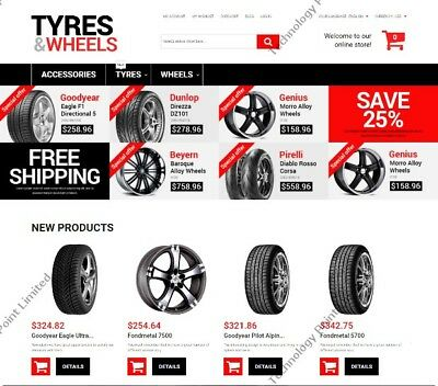 Wheels and Tyres Online Store Responsive Business Website Magento Template