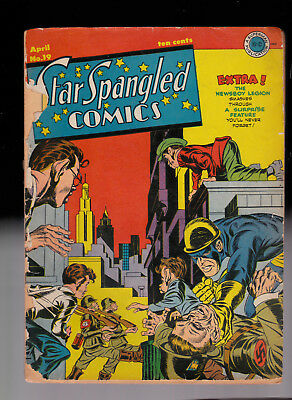 Star Spangled Comics 19  Affordable copy No Resto Simon & Kirby Split spine