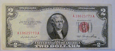 1953 red seal Two dollar United States Note! (#719n)