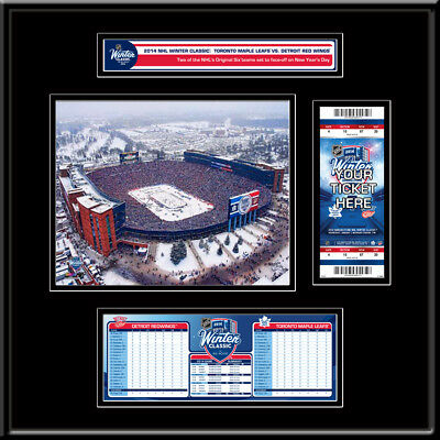 2014 NHL Winter Classic Ticket Frame Jr - Maple Leafs vs Red Wings