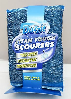 Duzzit Titan Tough Scourers Blue - 3 in a pack - Steel Pan Scourer