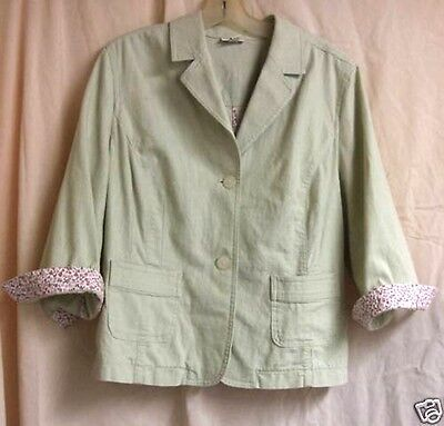 Celery Green Rockabilly Jacket w/ self covered buttons and 3/4 sleeve size 12